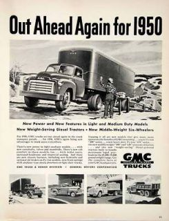 Ad GMC Truck Diesel Engine Transport Auto Coach Tractor General Motors