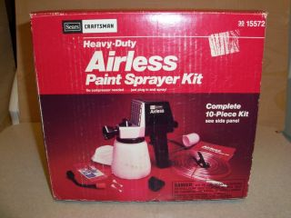 Craftsman Heavy Duty Airless Electric Paint Sprayer Kit #30 15572