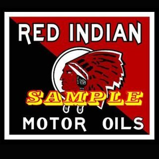Red Indian Motor Oil A 2x2 Gas Vinyl Stickers Oil Decals Gas Pump