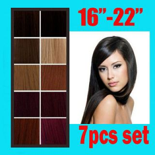 15 CLIP IN HUMAN HAIR EXTENSIONS LIGHT AUBURN 30