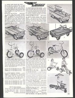 1960 AD Murray Pedal Cars Garton Station wagon Farmall Tractor