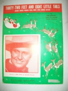 FEET AND EIGHT LITTLE TAILS REOCRDED BY GENE AUTRY 1951 W/ GUITAR C