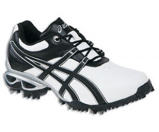 Asics Gel Linksmaster White/Black/Si lver Mens Golf Shoes