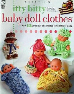 Knitting Itty Bitty Baby Doll Clothes 12 Ensembles AA