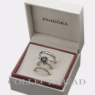 Authentic Pandora Sterling Silver Size 7 Midnight Enchantment Ring