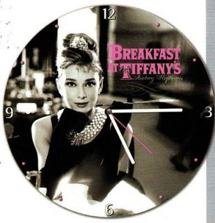 AUDREY HEPBURN Breakfast at Tiffanys HOLLYWOOD Movie WOOD QUARTZ WALL