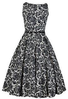 Lady Vintage 50s Glamorous Classy Audrey Hepburn Chic Dress Size 8 30
