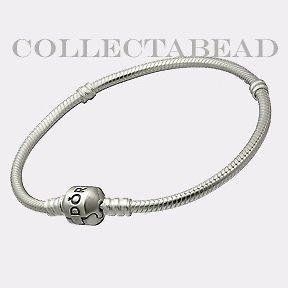 Authentic Pandora Silver Bracelet with Pandora Lock 7.1
