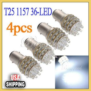 36 LED Super Bright White Car Auto Turn Brake Light Bulb Lamp DC 12V