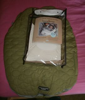 Cole Bundle Me bundleme baby infant car seat cover winter GREEN USED