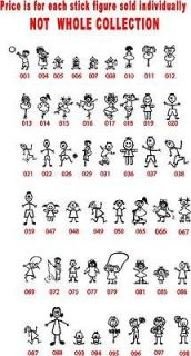 Your Stick People Family Stickers, Family Car Stickers, Family Decals