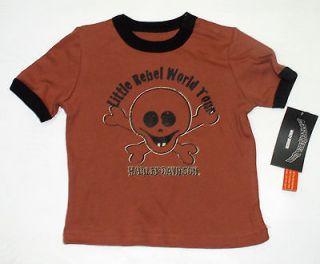 Harley Davidson Baby Infant Boys T Shirt   Top   Skull & Bones