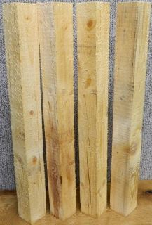 Solid Wood Pine Dining Table Legs/Furniture 3.5x3.5x36 Turning Blanks