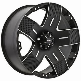 17x9 Black Ballistic Hyjak Wheels 6x5.5 +12 GMC K 2500 PICKUP 6 LUG K