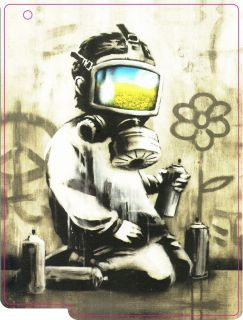 Banksy Child with Gas Mask iPad Skin (Sticker)   For iPad 1, 2 & 3