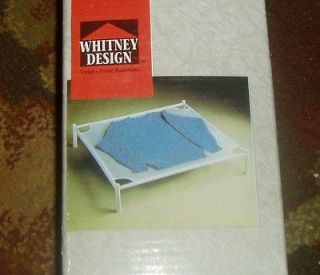 SWEATER / LAUNDRY DRYING RACK white PVC w mesh easy assembly stackable