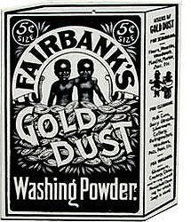 Vintage Original FAIRBANKS GOLD DUST TWINS BLACK AMERICANA Sign
