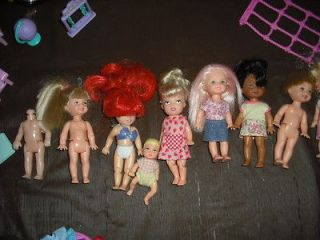 Lot Barbie Kelly Doll Clothes Shoes Accessories Bus Jeep Pre School