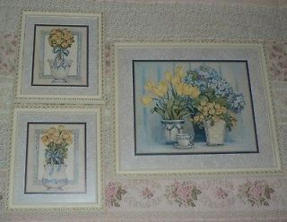 of 3 Home Interiors Gorgeous Potted Flowers Pictures / Barbara Mock