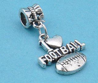 Tibetan silver lovely football pendant fit charm beaded bracelet f0962