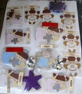BABY SHOWER BAPTISM Centerpieces CUTOUT Favors ANGELS Wood Comunion