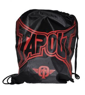 New TAPOUT Logo Drawstring Gym Bag Backpack MMA UFC Tap Out Black Red