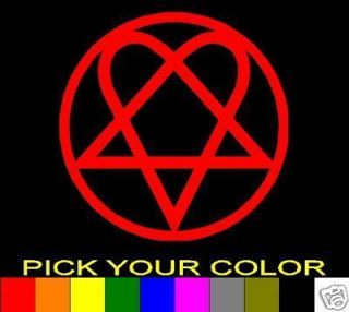 HIM HEARTAGRAM 3 BAM MARGERA DECAL STICKER VINYL