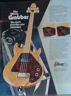 1974 Gibson Grabber Bass guitar photo print Ad