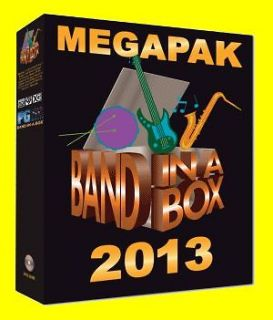 BAND IN A BOX MEGAPAK 2013   MUSIC AUDIO SOFTWARE   FULL VERSION