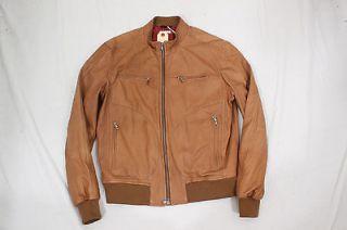 BRUNELLO CUCINELLI leather jacket coat M NWT