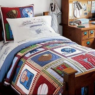 New Pottery Barn Kids Sports Twin Quilt I 2013006