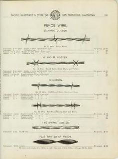Catalog Page Ad Fence Glidden Barb Wire Stretchers Ellwoods SF