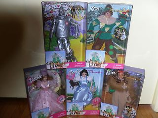 Wizard of Oz Barbie and Ken Dolls Set of 5