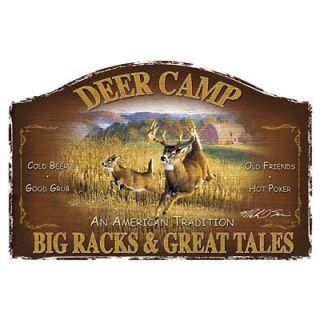 Hunting T Shirt Deer Camp Big Racks & Great Tales Tee