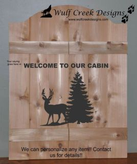 Custom Saloon Bar / Cabin Deer Swinging Door PERSONALIZE