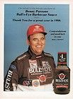 PRINT AD   1989 BULLS EYE BARBECUE SAUCE / BENNY PARSONS NASCAR