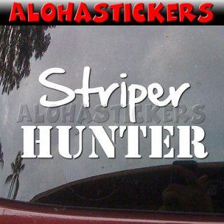 STRIPER HUNTER FISHING Bass Boat Truck Graphics Vinyl Decal Window