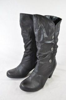 BARE TRAPS ARMANDY BLACK MICROFIBER ZIP UP FASHION BOOT