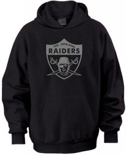 Oakland Raiders Logo Hoodie Sweater Black and Silver Bay Area