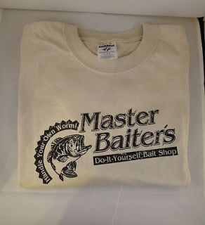 Master Baiter funny Bass fishing t shirt beer drinking boating tee