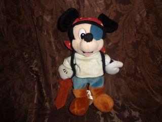 Walt disney world mickey mouse pirate sword eye patch stuffed