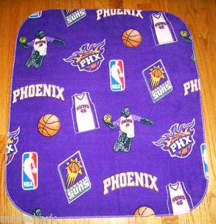 PHOENIX SUNS Basketball NBA Baby/ Kids Size Fleece Blanket 32 X 27