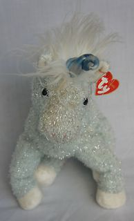 "Unicorn Doll Toy Purple White Fuzzy Soft Plush Bean Bag 13"" NEW"