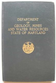MARYLAND CHESAPEAKE BAY GEOLOGY MINES FOLDING CHARTS 1953 BULLETIN 12