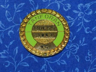 OLD Newspaper Press Pin Horse Race Track Badge Pass Calif Tracks #47