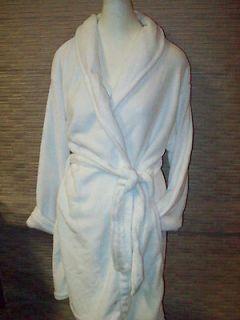 West Loop Luxurious White Toweling Spa Bath Short Wrap Robe (Sz L/XL