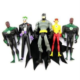 LOT 5X DC UNIVERSE The Joker Batman FLASH GREEN LANTERN FIGURES FX11