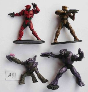 T305~ LOT OF 4 HALO WARS SOLDIERS action FIGURES rare loose 3