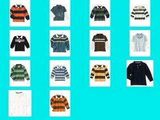 NWT Gymboree Big Boys Cotton Polo Shirt top tee long sleeve NEW Collar
