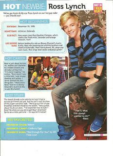 Ross Lynch, Full Page Pinup Clipping